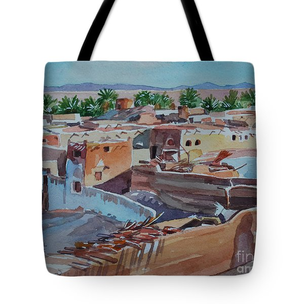 Village Tote Bag by Mohamed Fadul