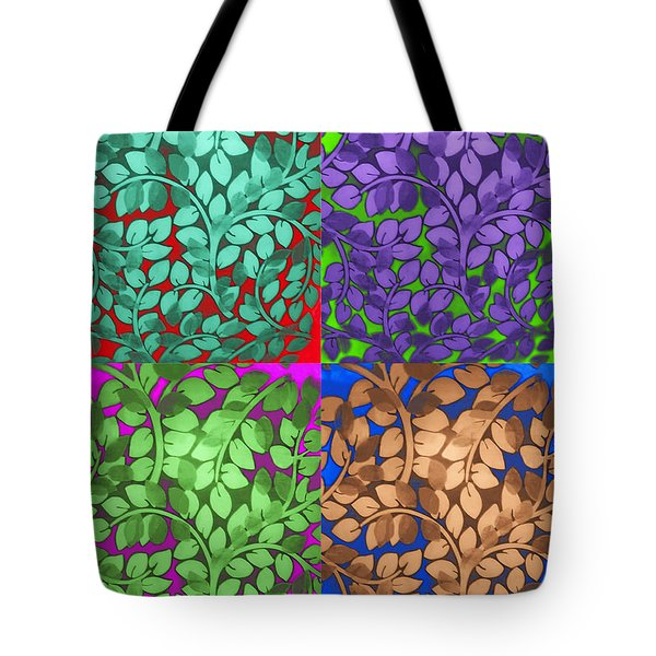 Vine Abstract Tote Bag by Joan  Minchak