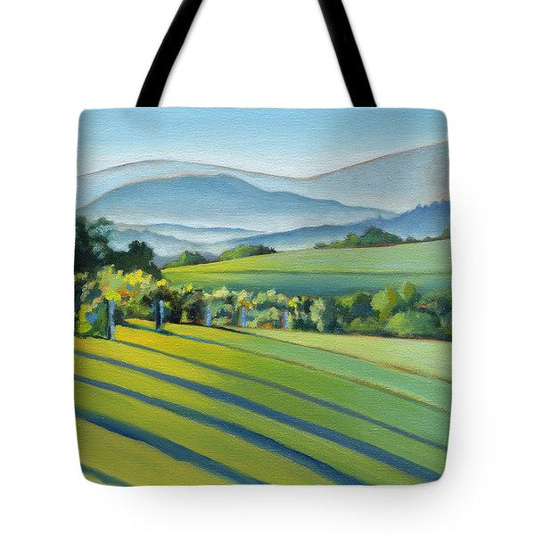 Vineyard Blue Ridge On Buck Mountain Road Virginia Tote Bag by Catherine Twomey