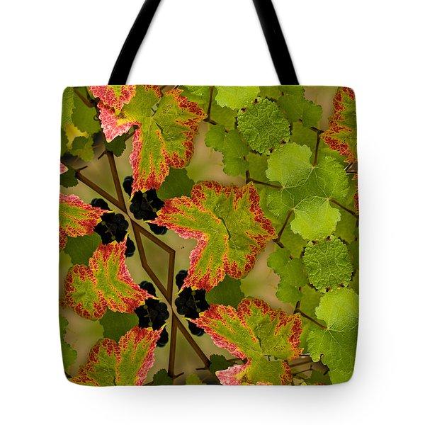 Vineyard quilt Tote Bag by Jean Noren