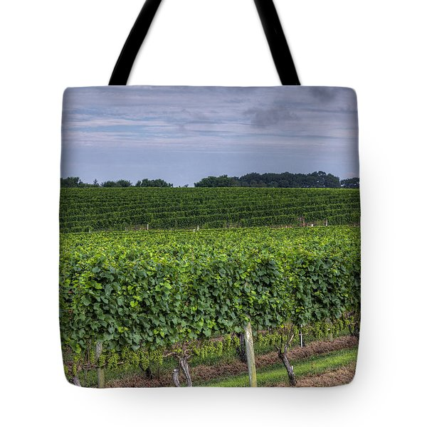 Vineyard Rows Tote Bag by Steve Gravano