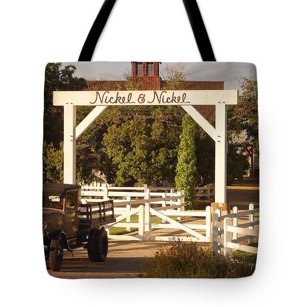 Vineyard Trucking Tote Bag by Holly Blunkall