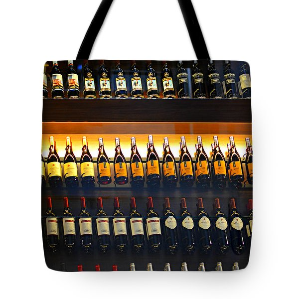 Vino Tote Bag by Laura Fasulo