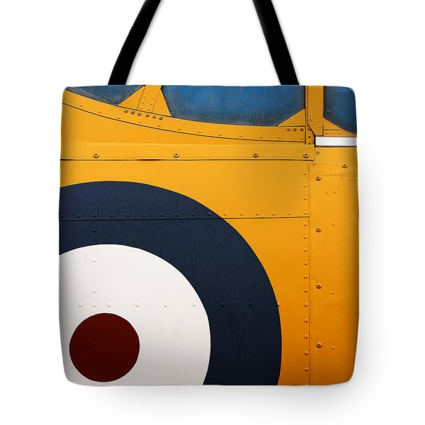Vintage Airplane Abstract Design Tote Bag by Carol Leigh