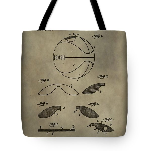 Vintage Basketball Patent Tote Bag by Dan Sproul