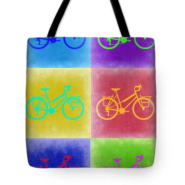Vintage Bicycle Pop Art 2 Tote Bag by Naxart Studio