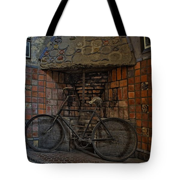 Vintage Bicycle Tote Bag by Susan Candelario