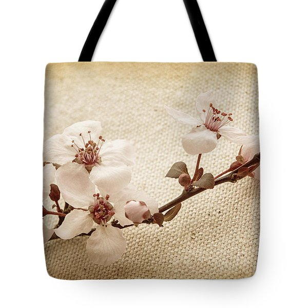Vintage Blossoms Tote Bag by Caitlyn  Grasso
