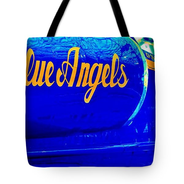 Vintage Blue Angel Tote Bag by Benjamin Yeager