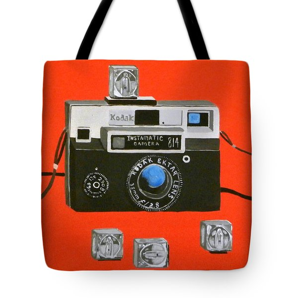 Vintage Camera With Flash Cube Tote Bag by Karyn Robinson