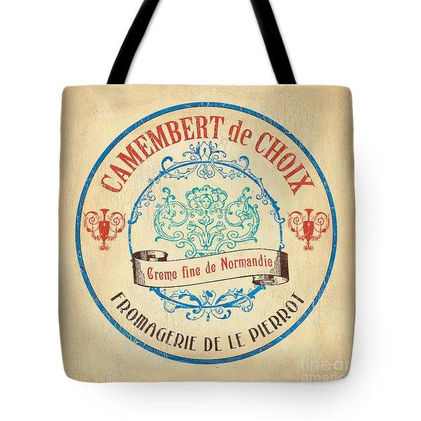 Vintage Cheese Label 4 Tote Bag by Debbie DeWitt