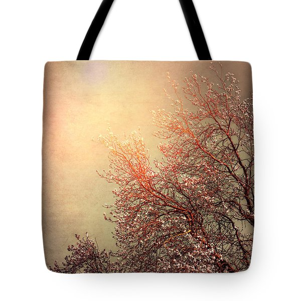 Vintage Cherry Blossom Tote Bag by Wim Lanclus