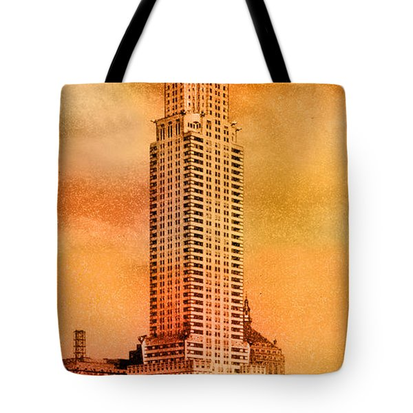 Vintage Chrysler Building Tote Bag by Andrew Fare
