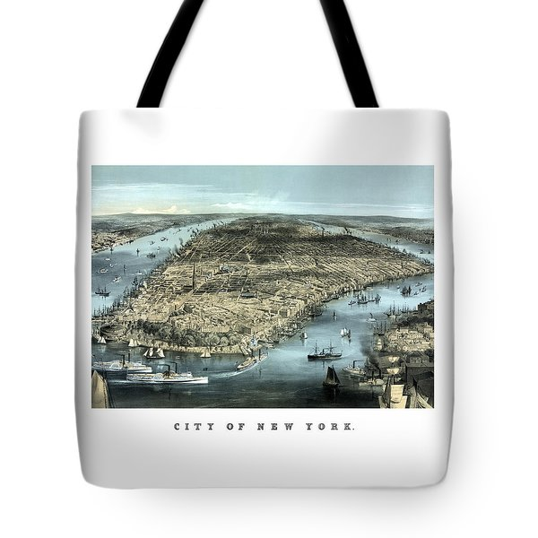 Vintage City Of New York Tote Bag by War Is Hell Store