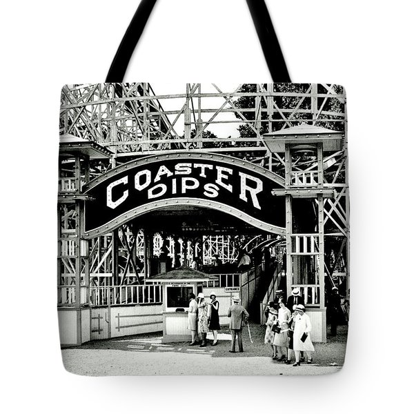 Vintage Coaster Tote Bag by Benjamin Yeager