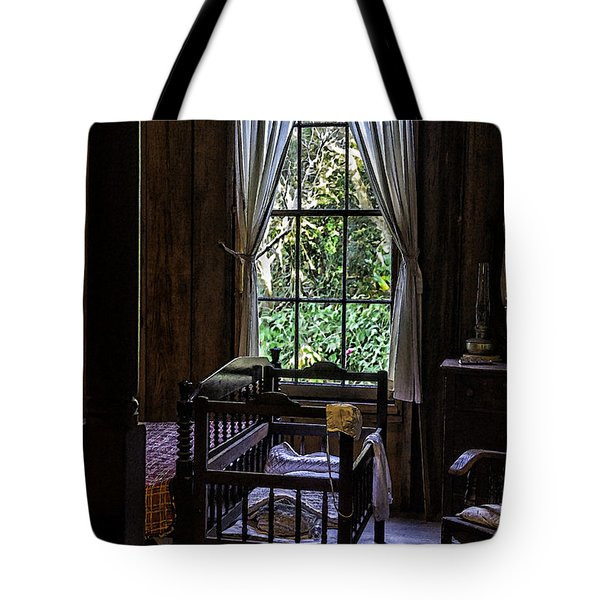 Vintage Crib And Bedroom Tote Bag by Lynn Palmer