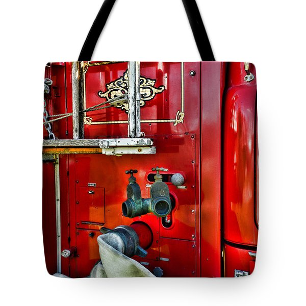 Vintage Fire Truck Tote Bag by Paul Ward