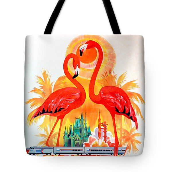 Vintage Florida Amtrak Travel Poster Tote Bag by Jon Neidert