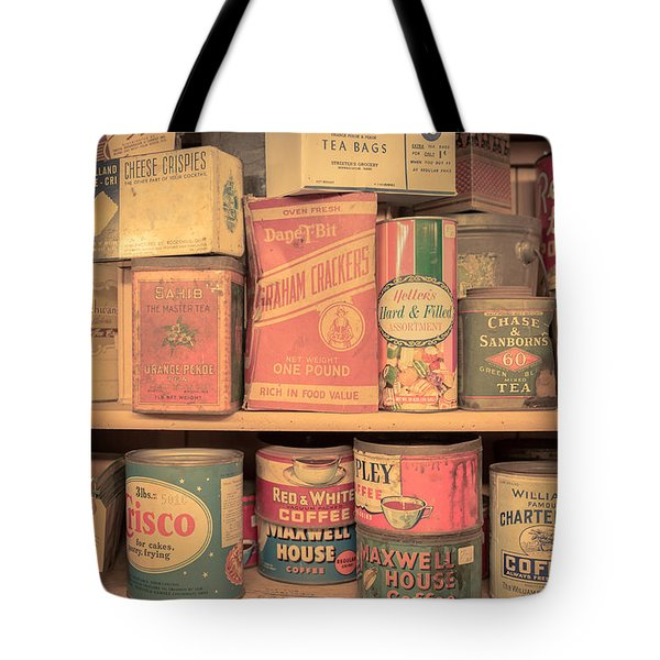 Vintage Food Pantry Tote Bag by Edward Fielding