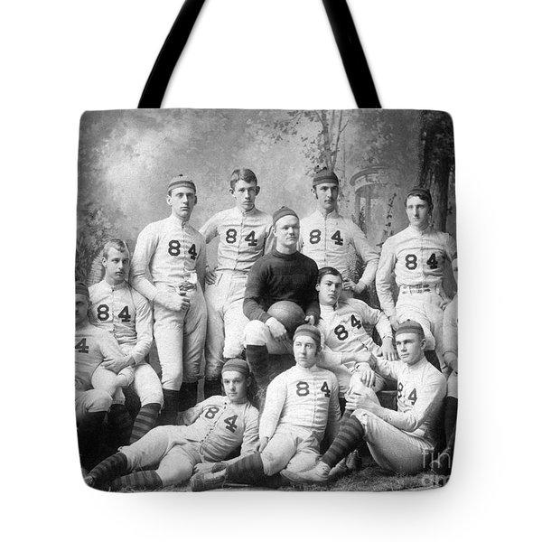 Vintage Football Circa 1900 Tote Bag by Jon Neidert