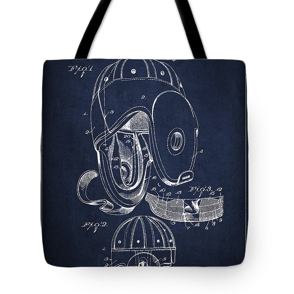 Vintage Football Helment Patent Drawing from 1927 Tote Bag by Aged Pixel