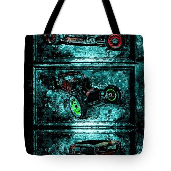 Vintage Hotrods Tote Bag by Amanda Struz