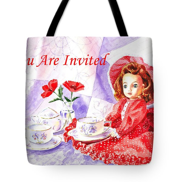 Vintage Invitation Tote Bag by Irina Sztukowski