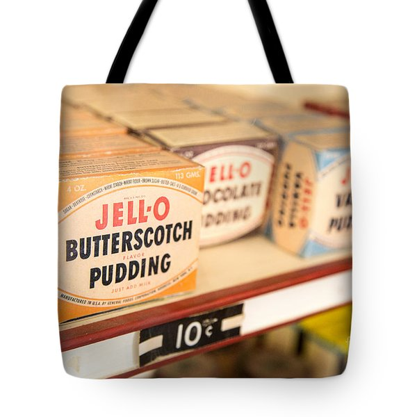 Vintage Jell-O Butterscotch Pudding Tote Bag by Edward Fielding