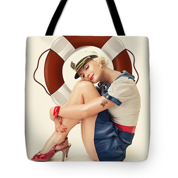 Vintage Lady Tote Bag by Cindy Grundsten