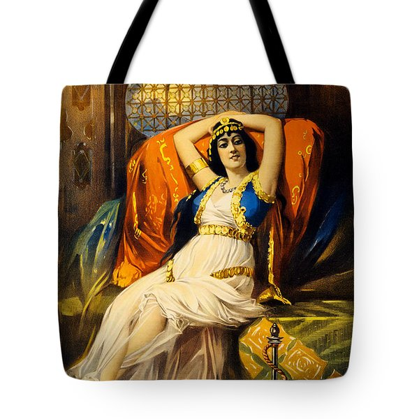 Vintage Nostalgic Poster - 8037 Tote Bag by Wingsdomain Art and Photography