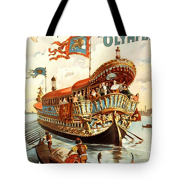 Vintage Nostalgic Poster - 8050 Tote Bag by Wingsdomain Art and Photography