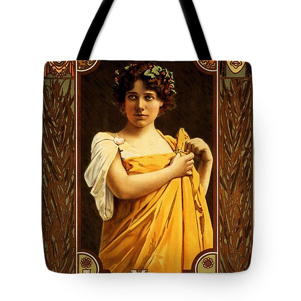 Vintage Nostalgic Poster - 8058 Tote Bag by Wingsdomain Art and Photography