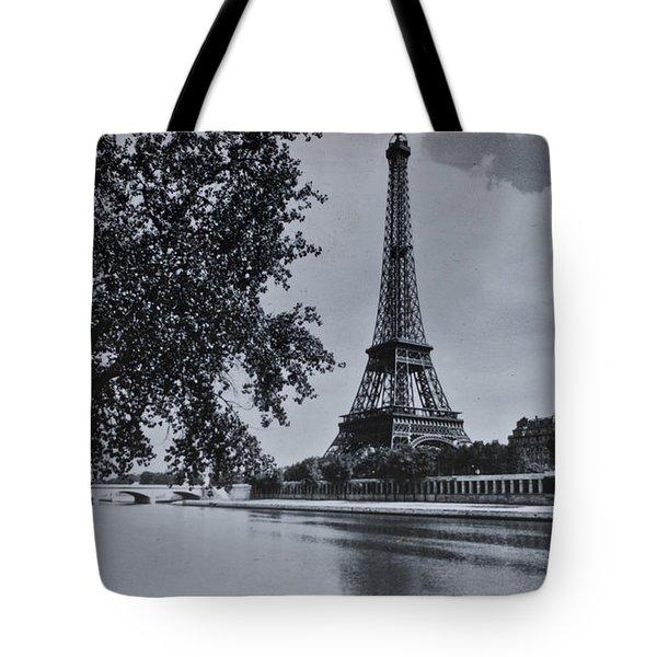 Vintage Paris Tote Bag by Nomad Art And  Design