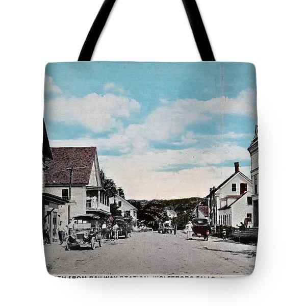 Vintage Postcard Of Wolfeboro New Hampshire Tote Bag by Valerie Garner