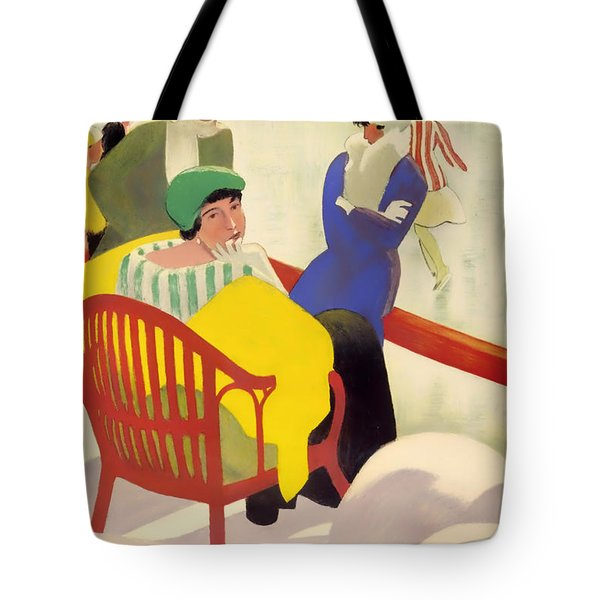Vintage Poster 1936 Tote Bag by Mountain Dreams