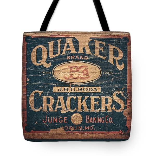 Vintage Quaker Crackers For The Kitchen Tote Bag by Lisa Russo