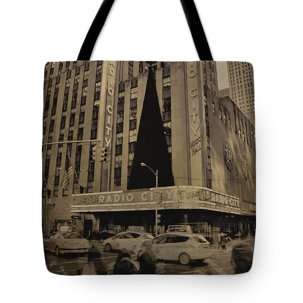 Vintage Radio City Music Hall Tote Bag by Dan Sproul