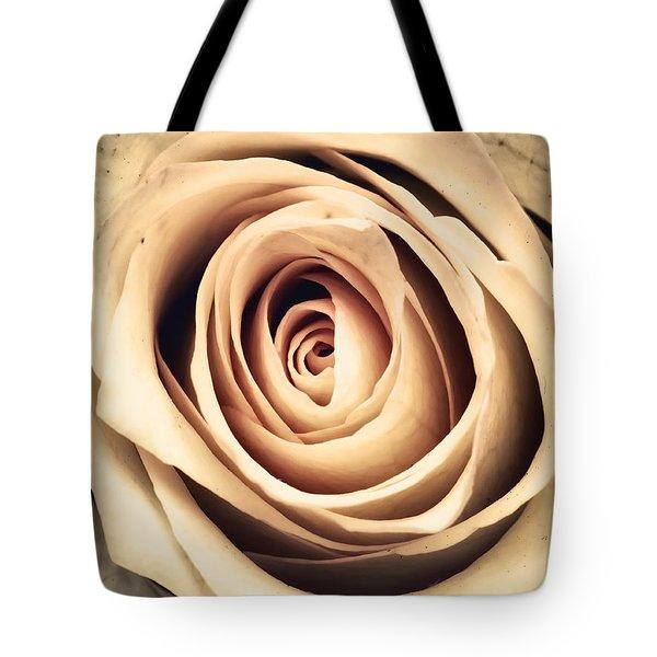 Vintage Rose Tote Bag by Wim Lanclus
