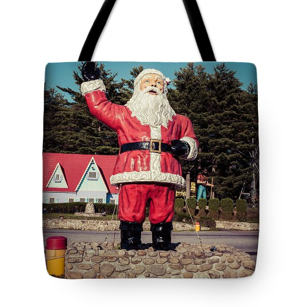 Vintage Santa Claus Christmas Card Tote Bag by Vintage Photograph