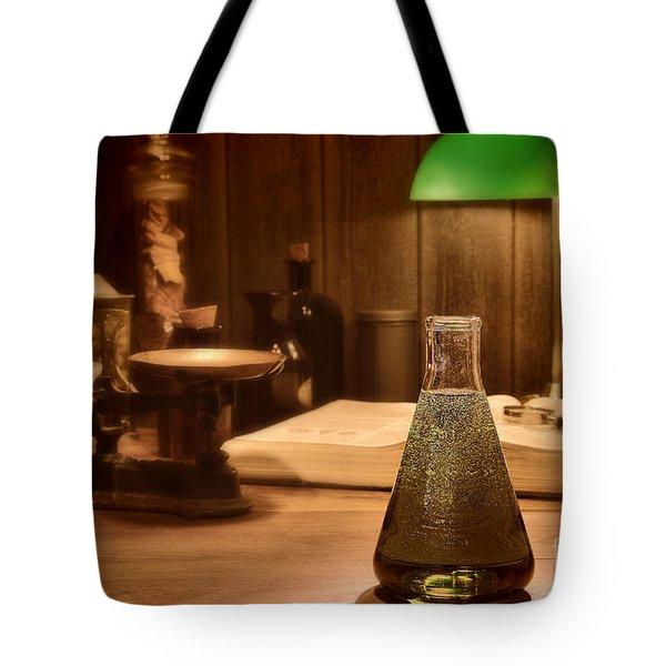 Vintage Science Laboratory Tote Bag by Olivier Le Queinec