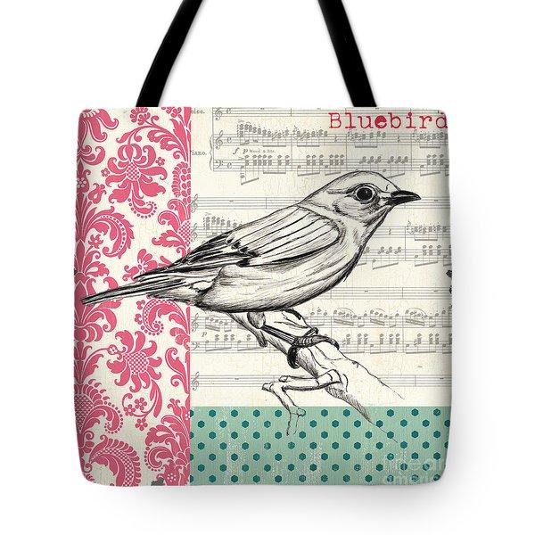 Vintage Songbird 1 Tote Bag by Debbie DeWitt