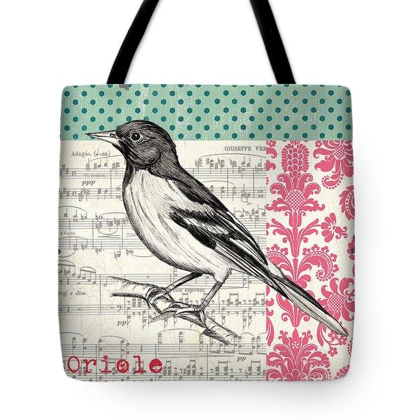 Vintage Songbird 2 Tote Bag by Debbie DeWitt