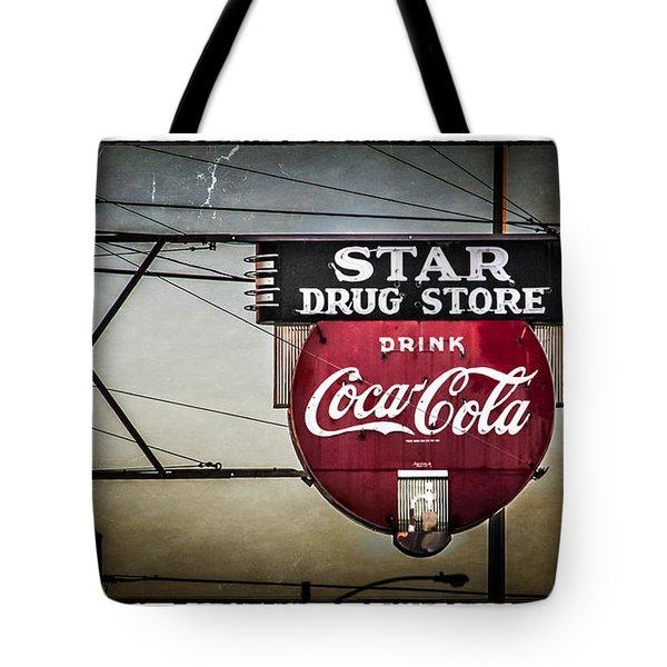 Vintage Star Drug Store Tote Bag by Perry Webster