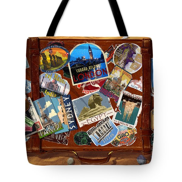 Vintage Travel Case Tote Bag by Garry Walton
