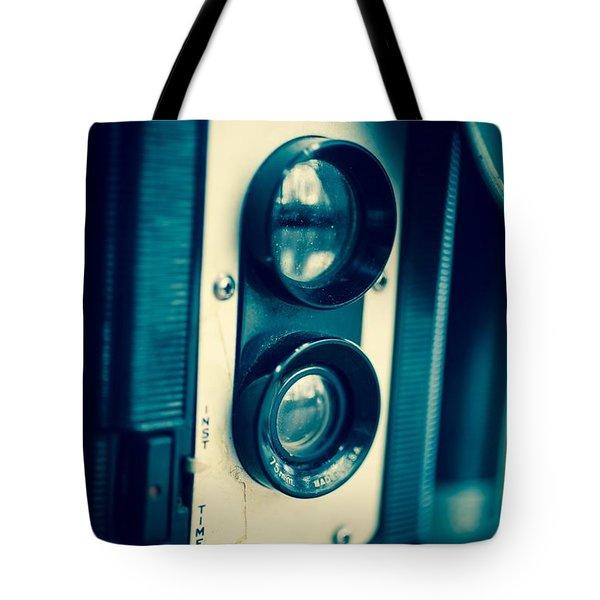 Vintage Twin Lens Reflex Camera Tote Bag by Edward Fielding