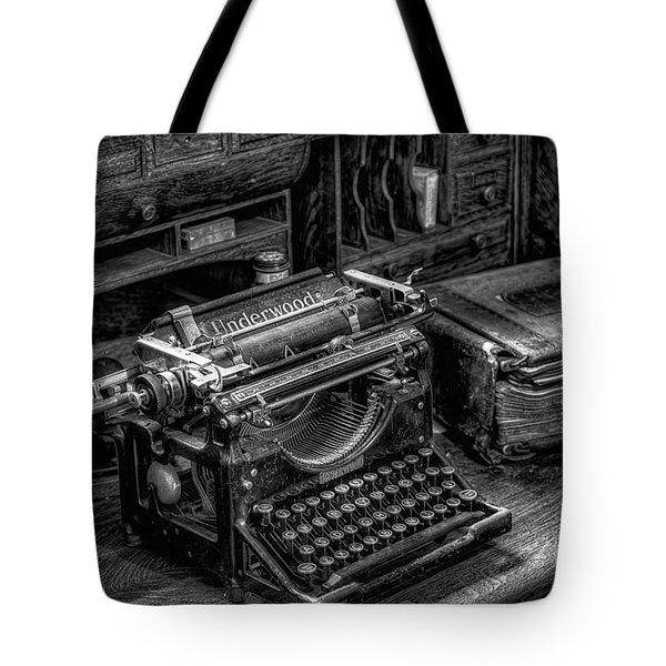 Vintage Typewriter Tote Bag by Adrian Evans