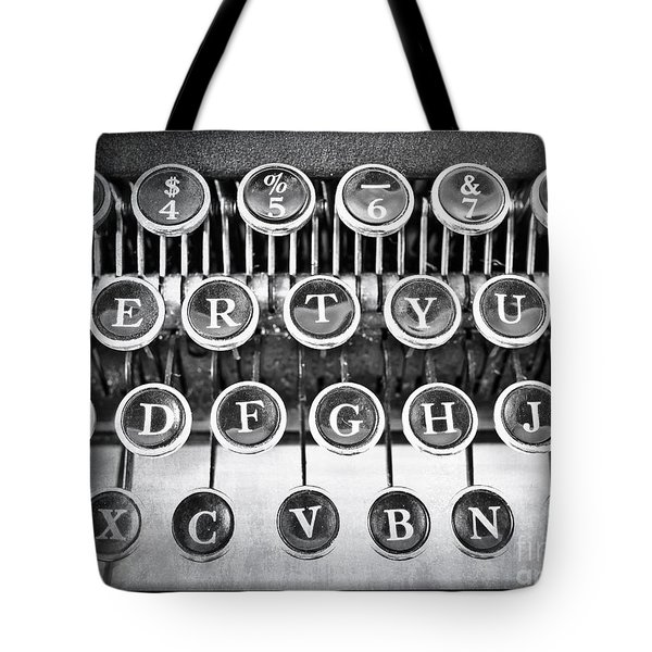 Vintage Typewriter Tote Bag by Edward Fielding