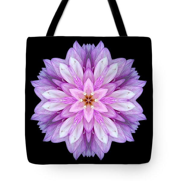 Violet Dahlia I Flower Mandala Tote Bag by David J Bookbinder