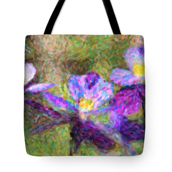Violet Flowers Tote Bag by Toppart Sweden