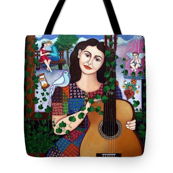 Violeta Parra Back At Seventeen   Tote Bag by Madalena Lobao-Tello